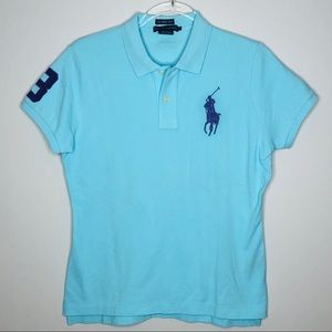 Ralph Lauren Skinny Polo Shirt Big Pony Large